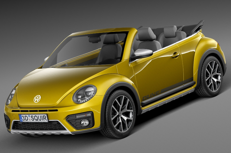 VW Beetle Cabrio 2020 design
